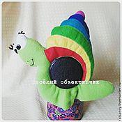 Куклы и игрушки ручной работы. Ярмарка Мастеров - ручная работа Игрушка на объектив улитка. Handmade.