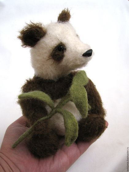 Мишки Тедди ручной работы. Ярмарка Мастеров - ручная работа. Купить Панда ЛЮ. Handmade. Коричневый, teddy bear, панда