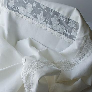 """Одежда ручной работы. Ярмарка Мастеров - ручная работа Рубашки: Рубашка из хлопка. """"Белые львы"""" Офисный бохо.. Handmade."""