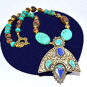 Украшения handmade. Livemaster - original item Necklace of turquoise ethnic style Boho style TURQUOISE Handmade. Auth. Handmade.