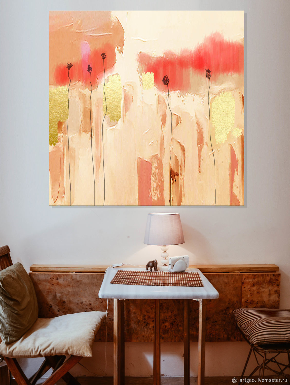 Огромная Картина для интерьера в стиле лофт  120х120 см холст, масло, Картины, Санкт-Петербург,  Фото №1
