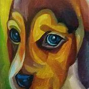 Картины и панно handmade. Livemaster - original item I like this pup In my life !. Handmade.