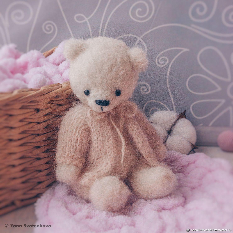 Мишка Тедди 15 см вязаная игрушка в подарок, Тедди Зверята, Орел,  Фото №1