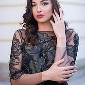 Платья ручной работы. Ярмарка Мастеров - ручная работа Черное платье c золотом Diona. Handmade.
