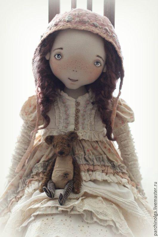Коллекционные куклы ручной работы. Ярмарка Мастеров - ручная работа. Купить Розалия. Handmade. Бежевый, винтажный стиль, кружево винтажное