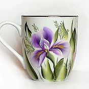 Посуда handmade. Livemaster - original item Mug with painted double smear
