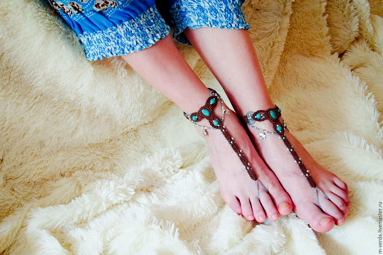 """Слейв браслеты для ног """"Цейлон"""", Украшения на ногу, Санкт-Петербург, Фото №1"""