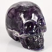 Большой череп из Флюорита. Резьба по камню.