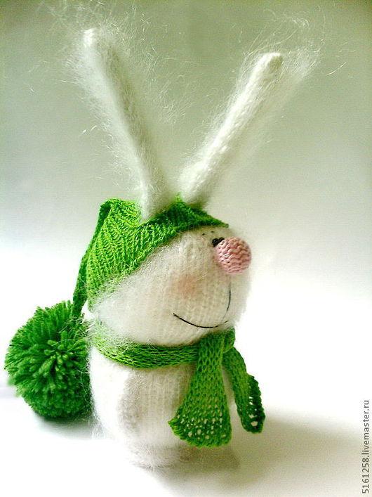 """Игрушки животные, ручной работы. Ярмарка Мастеров - ручная работа. Купить Зайчик вязаный """"Белый"""". (Вязаные игрушки, сувениры, подарки). Handmade."""