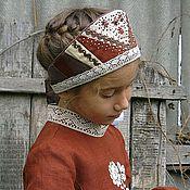 Русский стиль ручной работы. Ярмарка Мастеров - ручная работа Головной убор в русском стиле. Handmade.