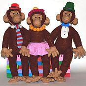 """Куклы и игрушки ручной работы. Ярмарка Мастеров - ручная работа Вязаные обезьянки """"Леди и джентельмены"""". Handmade."""
