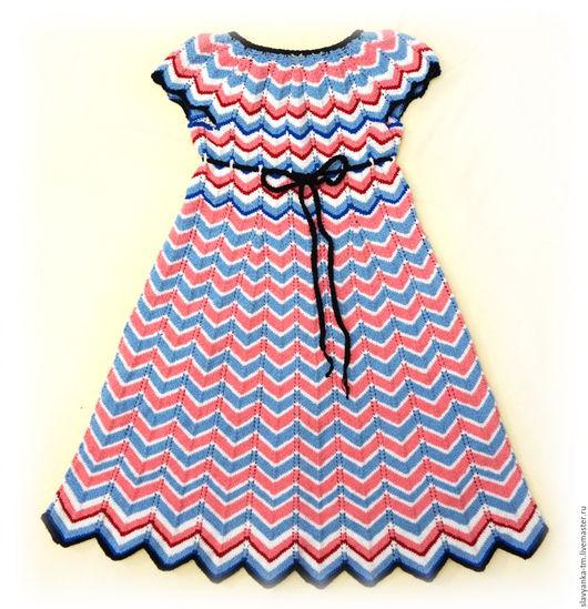 Одежда для девочек, ручной работы. Ярмарка Мастеров - ручная работа. Купить Вязаное платье детское. Handmade. Разноцветный, платье летнее