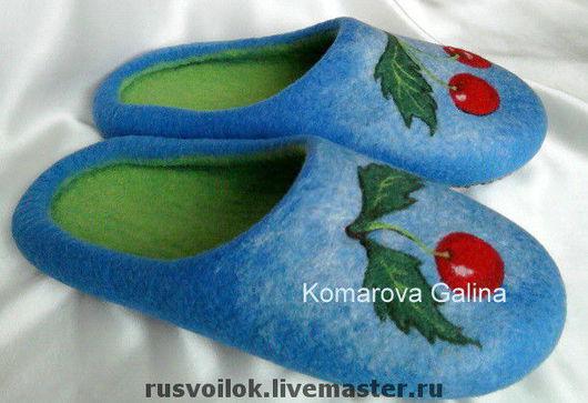 """Обувь ручной работы. Ярмарка Мастеров - ручная работа. Купить женские тапочки """" Для Виктории"""". Handmade. Валяные тапочки"""