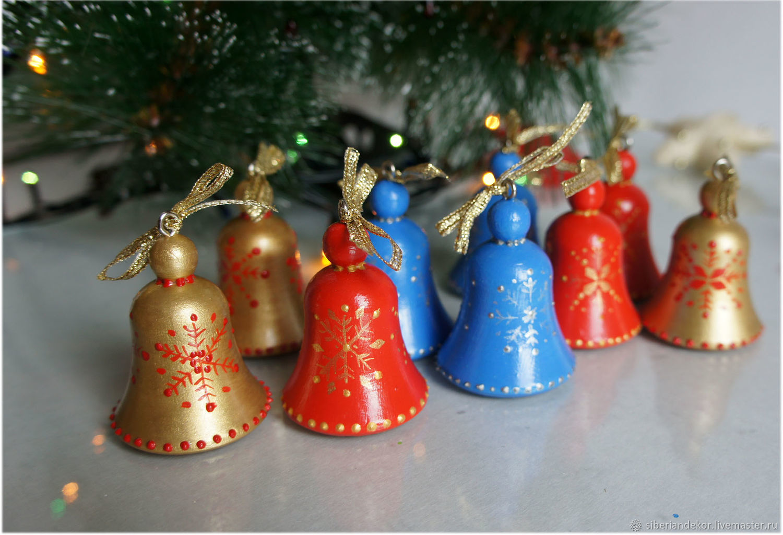 Колокольчики. Елочное украшение. Новогодние игрушки, Елочные игрушки, Тюмень,  Фото №1