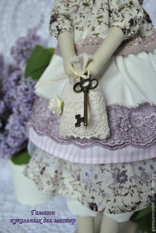 Куклы Тильды ручной работы. Ярмарка Мастеров - ручная работа. Купить Интерьерная текстильная кукла в стиле Тильда.. Handmade. Сиреневый