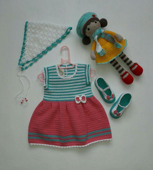 Одежда для девочек, ручной работы. Ярмарка Мастеров - ручная работа. Купить Комплект на девочку 6-12 месяцев. Handmade. Одежда