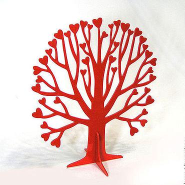 Для дома и интерьера ручной работы. Ярмарка Мастеров - ручная работа Декоративное дерево с сердечками из пластика. Handmade.