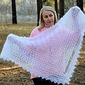 Аксессуары handmade. Livemaster - original item Downy openwork scarf