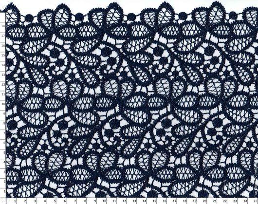 Аппликации, вставки, отделка ручной работы. Ярмарка Мастеров - ручная работа. Купить Гипюр макраме 4130 т.синий. Handmade.