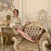 Одежда ручной работы. Ярмарка Мастеров - ручная работа Золотое пальто с песцом. Handmade.