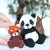 Куклы и игрушки ручной работы. Ярмарка Мастеров - ручная работа амигуруми панда  вязаная игрушка крючком. Handmade.