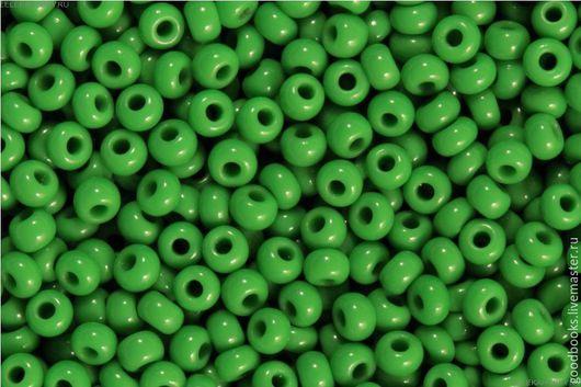 Для украшений ручной работы. Ярмарка Мастеров - ручная работа. Купить Бисер Preciosa круглый 8 #53250 непрозрачный/глянцевый светло-зеленый. Handmade.