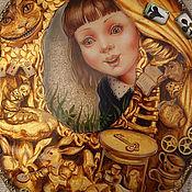 """Для дома и интерьера ручной работы. Ярмарка Мастеров - ручная работа зеркало """"Алиса в стране чудес"""".. Handmade."""