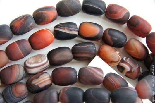 Для украшений ручной работы. Ярмарка Мастеров - ручная работа. Купить Агат бусины матовые ТАНГО , крупные камни. Handmade.