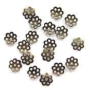 Материалы для творчества handmade. Livemaster - original item Bead caps bronze filigree. Handmade.