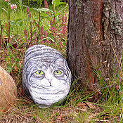 """Для дома и интерьера ручной работы. Ярмарка Мастеров - ручная работа арт-объект, сувенир """"каменный кот"""". Handmade."""