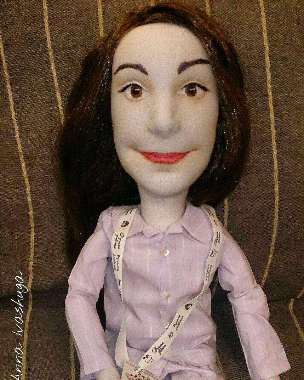 Как сделать волосы для портретная кукла 502