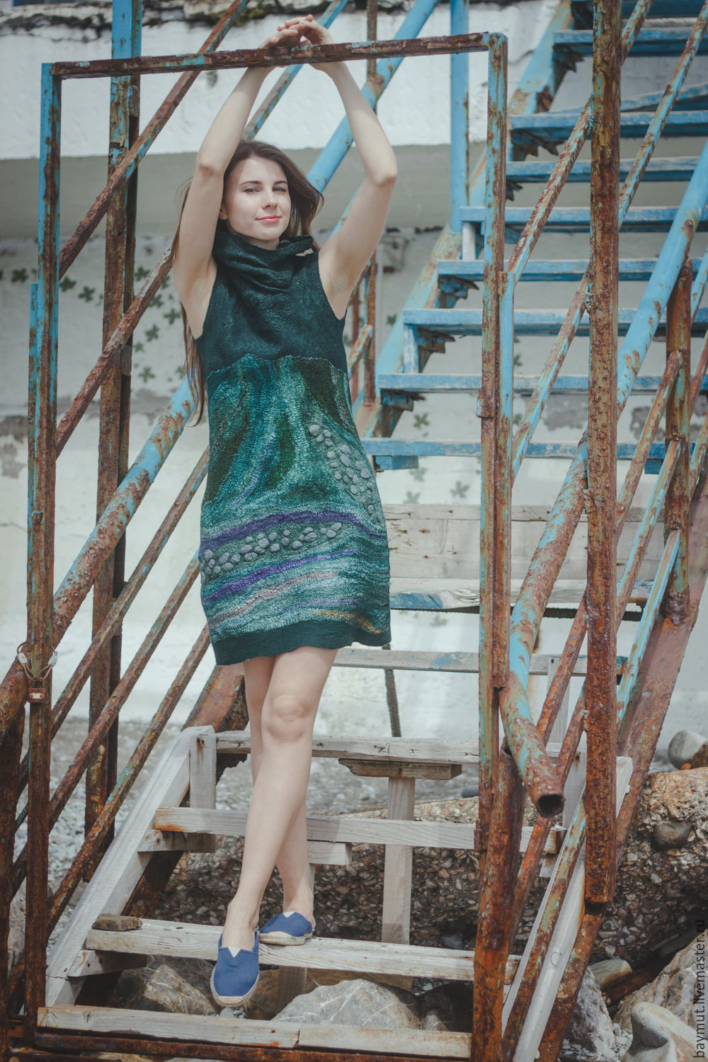 Felted dress 'Green', Dresses, Lugansk,  Фото №1