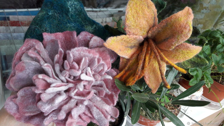 Валяные цветы купить оптом, головки цветов