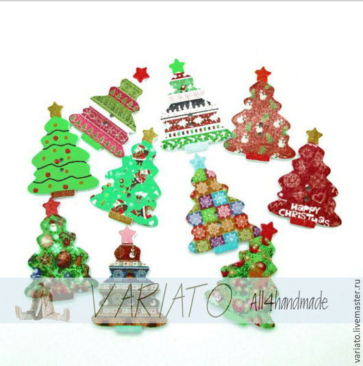 Шитье ручной работы. Ярмарка Мастеров - ручная работа. Купить Пуговицы новогодние Елочки крупные дерево. Handmade. Пуговицы декоративные