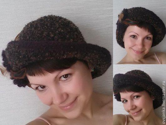 """Шляпы ручной работы. Ярмарка Мастеров - ручная работа. Купить Шляпка вязаная """"Букле"""". Handmade. Шляпка вязаная, абстрактный"""