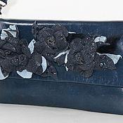 Сумки и аксессуары ручной работы. Ярмарка Мастеров - ручная работа клатч  BLUE ROSES из натуральной кожи. Handmade.