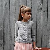 Работы для детей, ручной работы. Ярмарка Мастеров - ручная работа Пуловер вязаный для девочки Русалочка. Handmade.