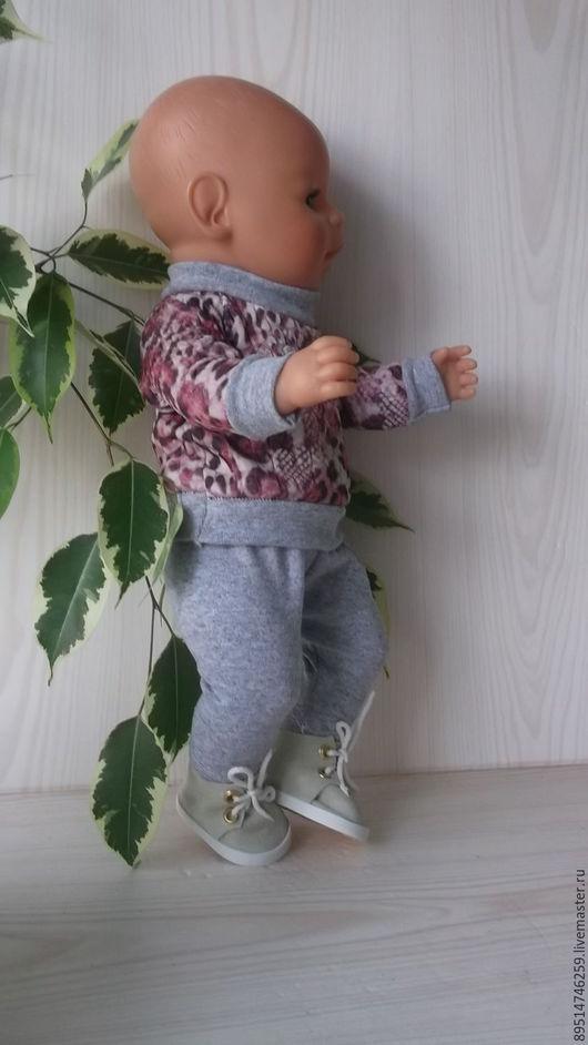 Одежда для кукол ручной работы. Ярмарка Мастеров - ручная работа. Купить Свитшот и штанцы. Handmade. Комбинированный, свитшот, беби бон
