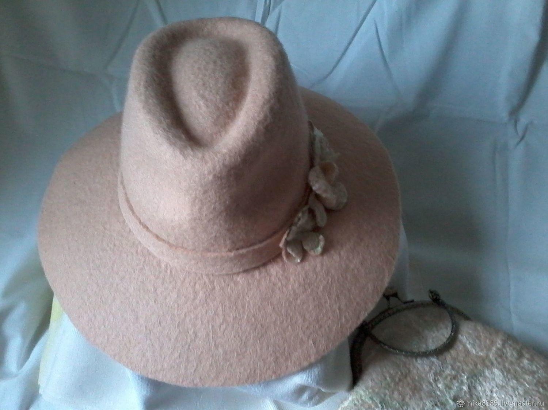 Комплект из широкополой шляпы с сумочкой, Шляпы, Санкт-Петербург, Фото №1