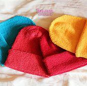 Аксессуары handmade. Livemaster - original item A set of beanie caps Rainbow.. Handmade.