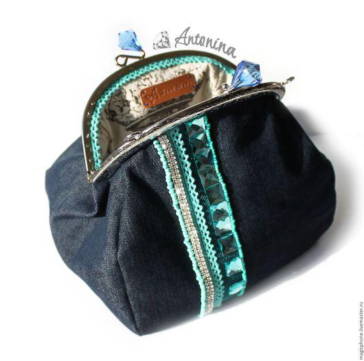 Косметичка/сумочка с фермуаром. Ручная работа