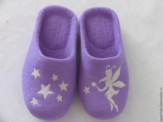 Обувь ручной работы. Ярмарка Мастеров - ручная работа. Купить тапочки валяные из тонкой мериносовой шерсти детские. Handmade.