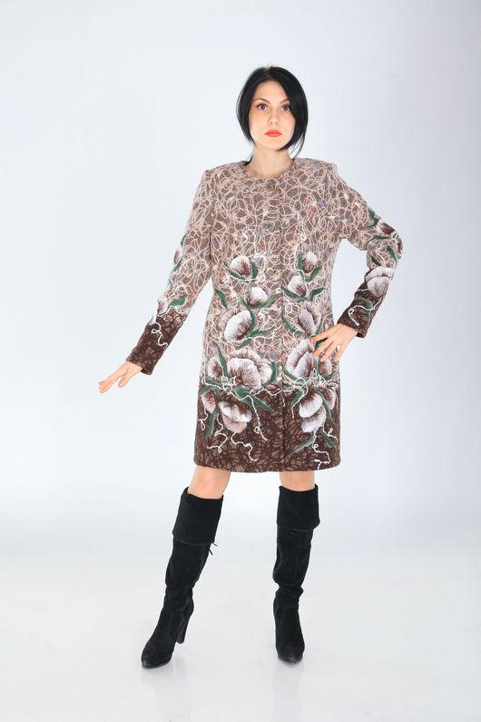 Верхняя одежда ручной работы. Ярмарка Мастеров - ручная работа. Купить ПС 10. Handmade. Коричневый, пальто, стиль