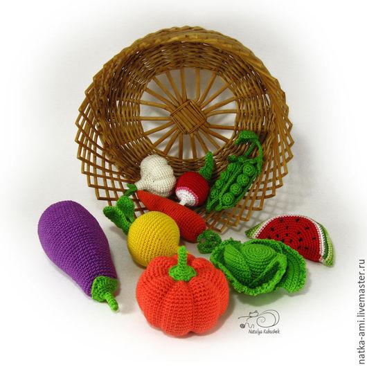 Еда ручной работы. Ярмарка Мастеров - ручная работа. Купить Вязаные витаминки ( вязаные овощи). Handmade. Овощи, горох