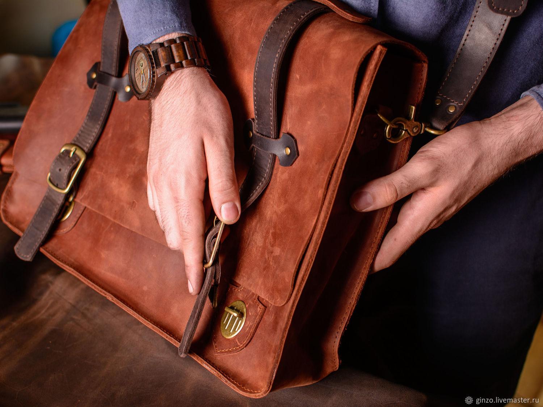 Мужская сумка через плечо HARVARD ручная работа в подарок мужчине, Мужская сумка, Тула,  Фото №1