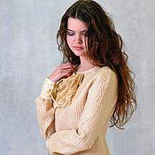 Одежда ручной работы. Ярмарка Мастеров - ручная работа Валяное платье, платье из войлока Карамель. Handmade.