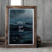 Картины и панно ручной работы. Ярмарка Мастеров - ручная работа Фотокартина морская Let`s get lost. Handmade.