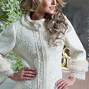 Одежда handmade. Livemaster - original item Coat white!Sherst100% Coats designer!. Handmade.