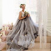 Одежда ручной работы. Ярмарка Мастеров - ручная работа Платье с кружевом из серебра. Handmade.