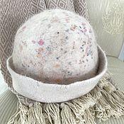 Шапки ручной работы. Ярмарка Мастеров - ручная работа Шапка шляпка войлок. Шерсть, пух ангорского кролика, меринос, шелк. Handmade.